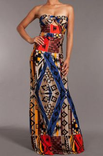 Maxi dress sexy open top tribal aztec rihanna nicki minaj celebrities