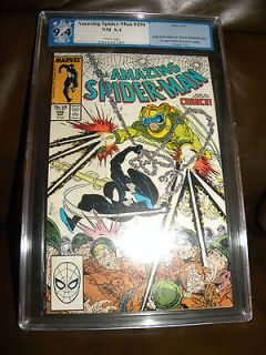 Amazing Spider man # 299 9.4 PGX 2nd Cameo Venom