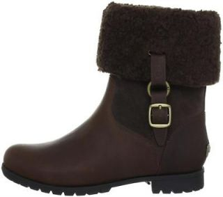 Womens UGG Australia BELLVUE III Short Shearling Boots Espresso Brown