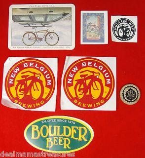 Tatoo Postcard Coaster Fat Tire Bike New Belgium ODell Boulder