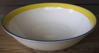 Cellar Paris Cafe Serving Vegetable Bowl Yellow Blue