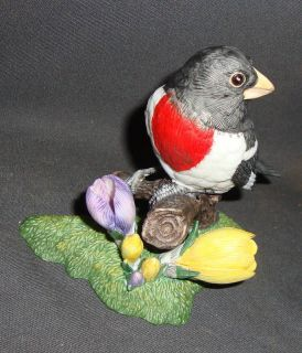 LENOX BIRD PORCELAIN FIGURINE ROSE BREASTED GROSBEAK