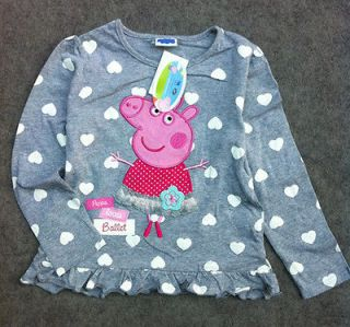 Brand New STUNNING Beautiful Peppa Pig Top~i love ballet~Multipl e