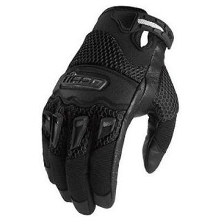 NEW ICON 29ER GLOVES STREET BIKE MOTORCYCLE MENS BLACK LARGE