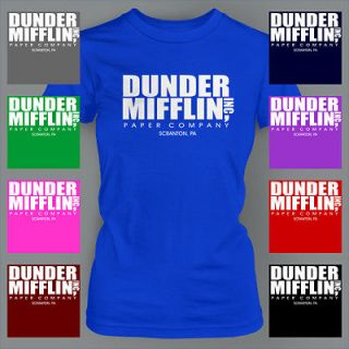 Dunder Mifflin The Office Funny DWIGHT SCHRUTE Ladies T Shirt