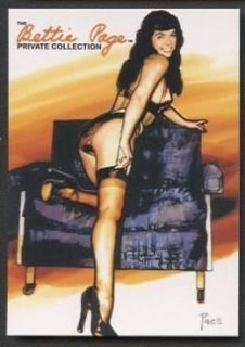 Bettie Page Private Collection Box 2 Promo Card Embossed BP23 NSU