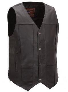 Mens Concealed Carry Motorcycle 10 Pocket Vest
