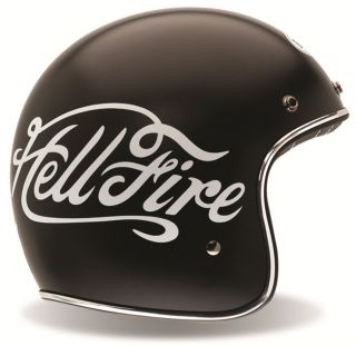 Bell Custom 500 Vintage Motorcycle Helmet Hellfire Medium