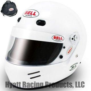 Bell M.4 Auto Racing Helmet SA2010   All Sizes / White (Free Bag)