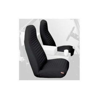 Bestop 29224 15 Seat Covers; Black Denim; Front High Back; Pair; 92 94