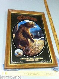 OS2 HAMMS BEER SIGN MIRROR BAR SIGNS GRIZZLY BEAR AMERICAN BEAR