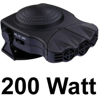 200W 12 VOLT CAR FAN HEATER INSTANT PORTABLE DEFOGGER DEICER DEMISTER