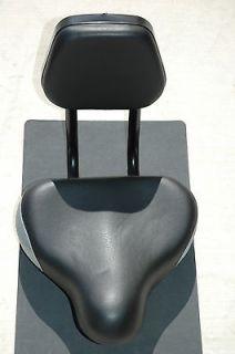 Sunlite Backrest EZ Seat Saddle Bike Bicycle Black Silver   Old School