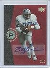 BILLY SIMS 2009 EXQUISITE AUTO BIOGRAPHY JERSEY AUTOGRAPH 9 35 LIONS