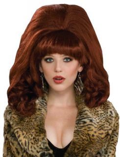 Big Red Auburn Peggy Bundy Beehive 50s 60s Women Costume Wig