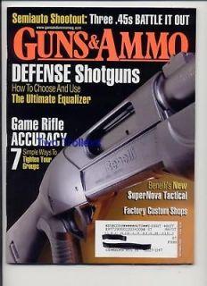 Guns & Ammo Sept 2006 45 Special Shotgun New Benelli