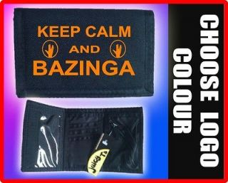 BIG BANG THEORY WALLET keep calm BAZINGA BNWT sheldon RIPPER   T shirt