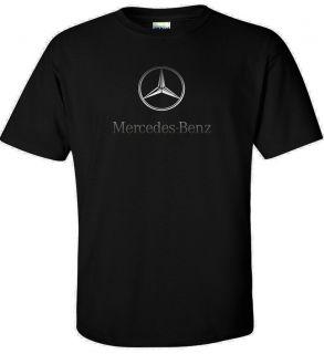 New Silver Mercedes Benz Logo t shirt AMG 600 Brabus C S class tee S