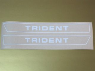TRIUMPH Trident logo vinyl decal peel and stick vintage motorcycle