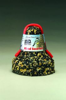 Mixed Seed Bells 16 oz. Each w/ net wild bird food Pine Tree Farms