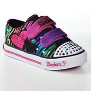 Toddler Girls SKECHERS Twinkle Toes Triple Time Light up Shoes size