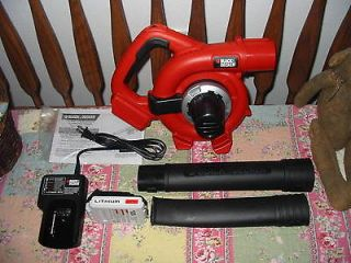 Newly listed Black and Decker 20V 20Volt Lithium Cordless Leaf Blower