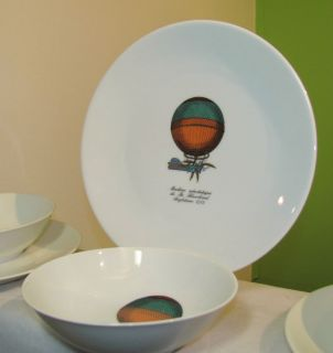 Machine Aerostatique Blanchard Anglaterre Bowl Plate Fornasetti