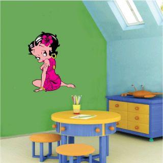 Betty Boop Cartoon Wall Decor Sticker 16x25