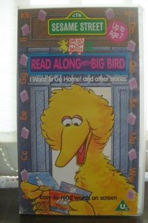 SESAME STREET   READ ALONG WITH BIG BIRD VHS VIDEO MUPPETS