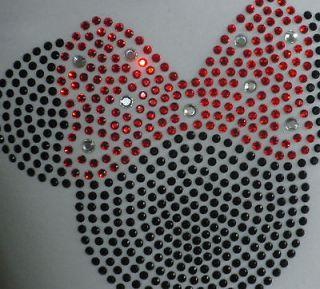 2T 3T 4T 5T 6/6X 8 10 12 RED Minnie Mouse Disney rhinestone t shirt