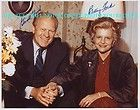 Jerry Ford and Betty Ford signed cards 1974