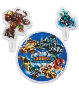 KIDS SKYLANDERS BIRTHDAY PARTY CAKE TOPPER DECORATION KIT NEW