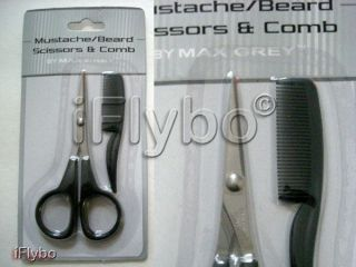Mustache Beard Scissors & Comb Grooming Kit