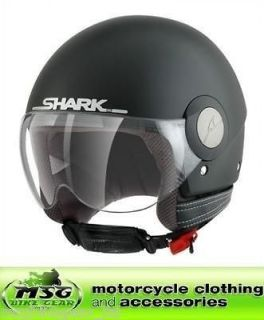 Helmet Shark Sk Open Face Motorcycle Scooter Matt Black Medium