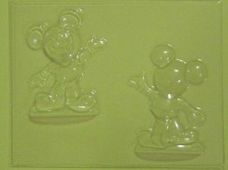 MICKEY MOUSE 3D Chocolate Candy Soap Ice Gummy Clay Gumpaste Mold NEW