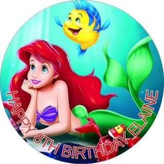 LITTLE MERMAID RICE PAPER BIRTHDAY CAKE TOPPERS