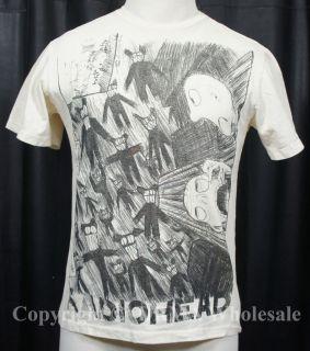 Authentic RADIOHEAD W.A.S.T.E. Scribble Slim Fit T Shirt S M L XL XXL