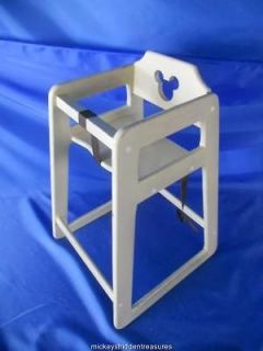 MICKEY MOUSE SILHOUETTE RESTAURANT HIGH CHAIR ACTUAL DISNEY USED CHAIR