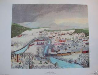 Grandma Moses Hoosick Falls In Winter Print 1951