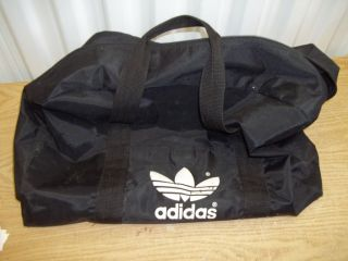 Vintage Adidas Taiwan Black Sports Gym Travel Bag LOOK