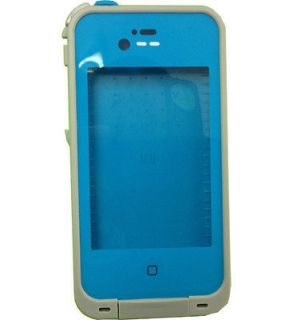 Blue Waterproof case Life protector for iphone4 & iphone 4s snow shock