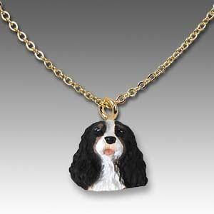 NEW* CAVALIER KING CHARLES TRI Dog Necklace RETIRED LAST THREE