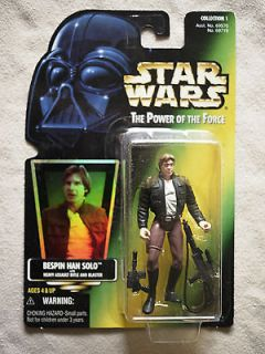 Star Wars POF Bespin Han Solo/rifle/bla ster figure/97 Collection 1