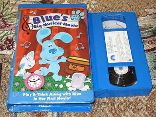 BLUES CLUES~BLUES BIG MUSICAL MOVIE~KIDS NICK JR. VHS VIDEO TAPE FREE