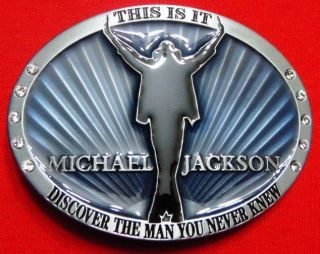 MICHAEL JACKSON THIS IS IT BELT BUCKLE   New