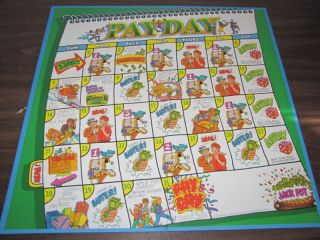 1994 PAYDAY Board Game Part/Piece Replacement GAME BOARD ONLY Crafts