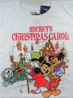 Disney Mickey Mouse Donald Duck Scrooge Goofy Shirt A Xmas Carol S/M/L