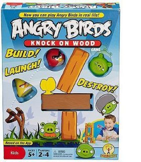Angry Birds Knock On Wood Slingshot Board Game by Mattel New