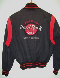 Vintage Hard Rock Cafe Jacket UNISEX NEW ORLEANS SAVE PLANET EMBR COAT