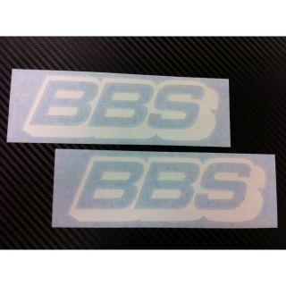 BBS RIM Racing Decal Sticker (New) White x2